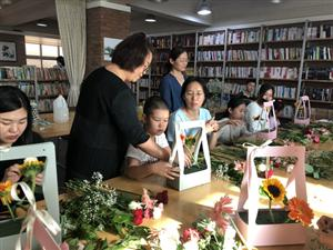"""廊坊市店:""""师""""情""""花""""艺 亲子插花DIY活动"""